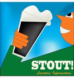 Irish Stout Drinker vector image vector image