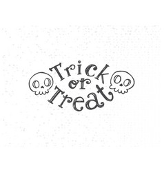 trick or treat sketch vector image