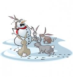 bunny attack vector image vector image