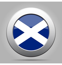 metal button with flag of Scotland vector image vector image