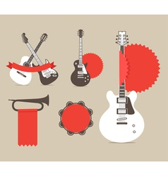 Music instrumrnts icons vector