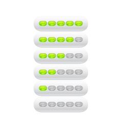 progress bar from green ovals vector image vector image