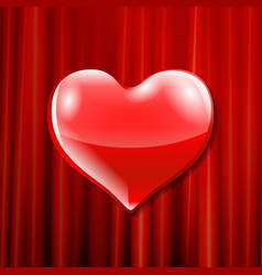 red heart celebration balloons glitters vector image