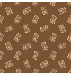 hand drawn doodle bear seamless pattern vector image