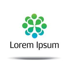 Natural logo design Logo design template vector image