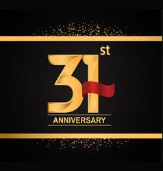 31 years anniversary logotype with premium gold vector