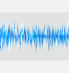 Abstract blue sound wave pattern elements with vector
