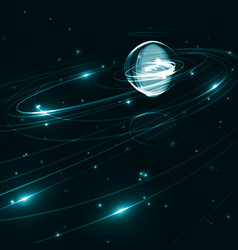 abstract futuristic space background vector image