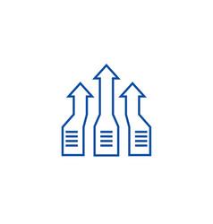 arrows upprogress line icon concept arrows up vector image
