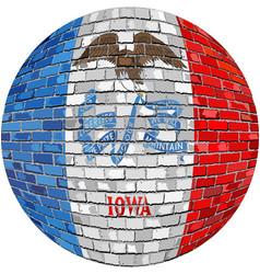 Ball with iowa flag vector