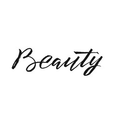 Beauty typography square poster lettering vector