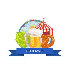 beer taste poster oktoberfest vector image