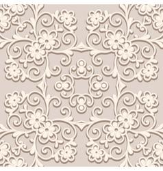 Beige pattern vector image