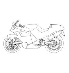 bike sport speed mountain motorbike motorcycle vector image