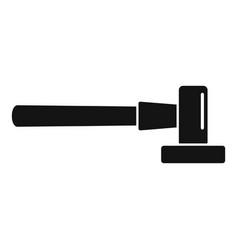 Blacksmith hammer icon simple style vector