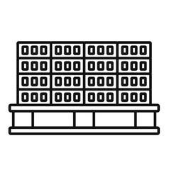 Bricks pallet icon outline style vector