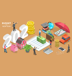 budget for new 2021 year business or family vector image