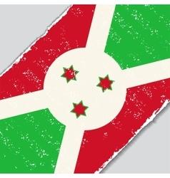 Burundi grunge flag vector