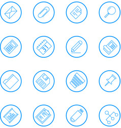 business and office line icons vector image