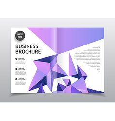 Business brochure design Flyer with headline vector