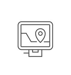 Car navigator line outline icon vector