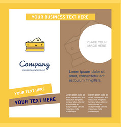 cheese company brochure template busienss template vector image
