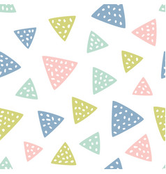 Childish seamless pattern with triangles creative vector