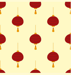 chinese lantern seamless pattern background vector image