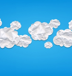 Clouds From Crushed Paper vector image