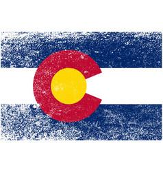 Colorado state flag grunge vector