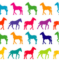 colorful seamless background with foals vector image