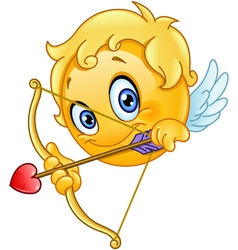 cupid emoticon vector image