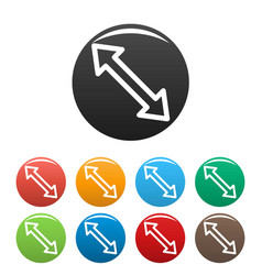 cursor increase element icons set color vector image