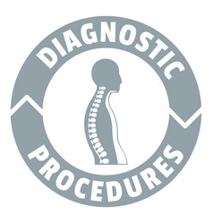 Diagnostic procedures logo simple gray style vector