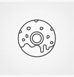 Doughnut icon sign symbol vector