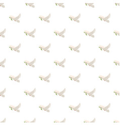 dove with olive branch pattern vector image