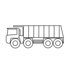 dump truck simple drawing on light background vector image