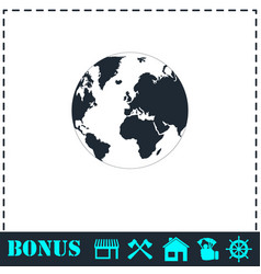 earth icon flat vector image