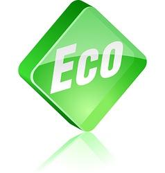 Eco button vector