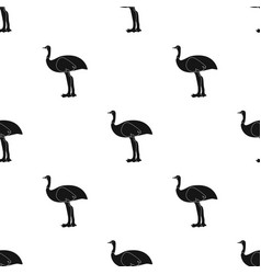 Emu icon in black style isolated on white vector