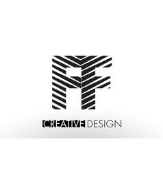 ff f f lines letter design with creative elegant vector image