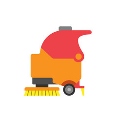 floor care and cleaning services tool icon vector image