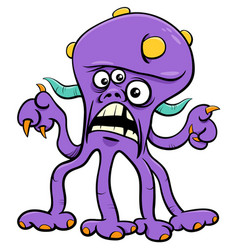 Funny monster character cartoon vector