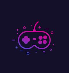 games gamepad icon vector image