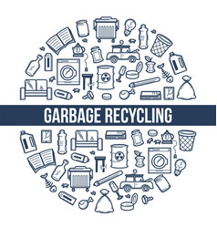 Garbage recycling ecology and environment trash vector