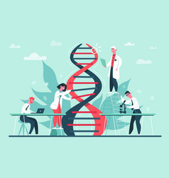 genetic dna research lab genome and dna code vector image