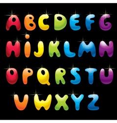 Glossy alphabet vector image