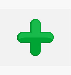 Green plus sign icon cross symbol safety vector