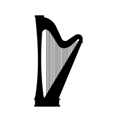 Harp black icon vector