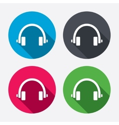 Headphones sign icon Earphones button vector image